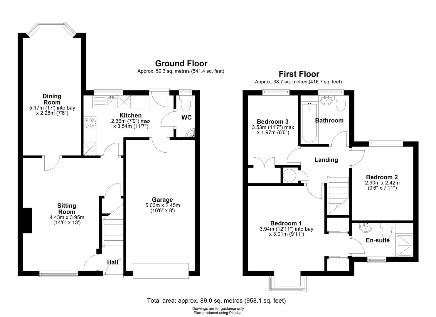 Floor plan Bosworth Road, Cambridge